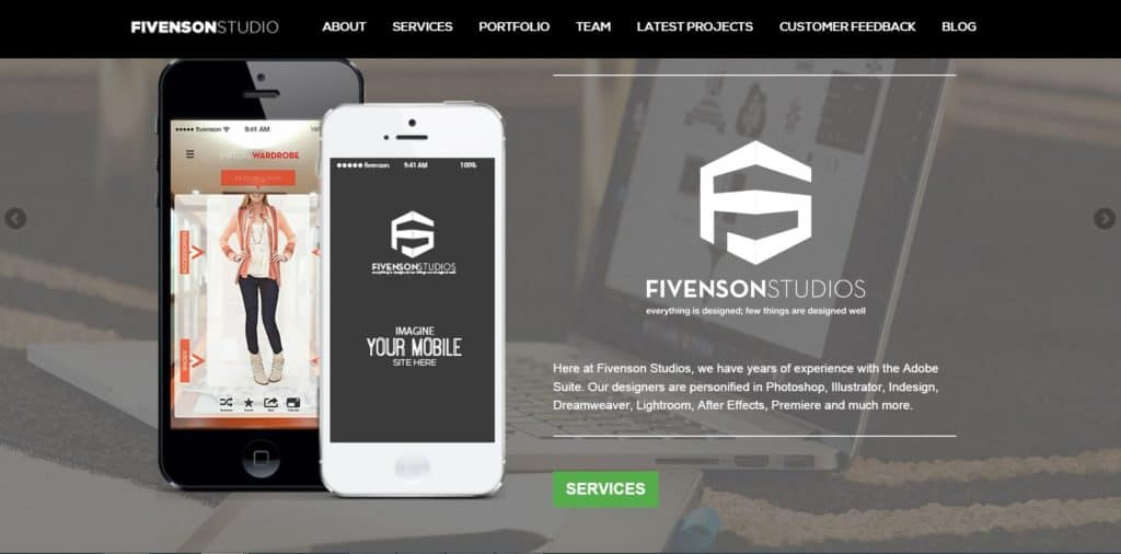 Fivenson Studios Amazing Website